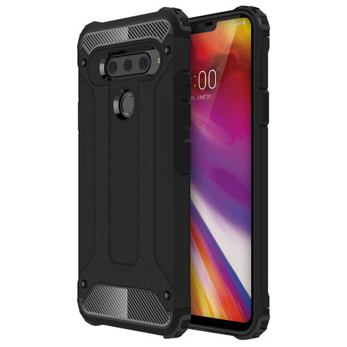 Military Defender Shockproof Case for LG V40 ThinQ - Black